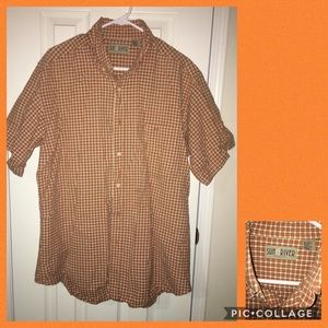 Other - Orange plaid Sun River short sleeve shirt